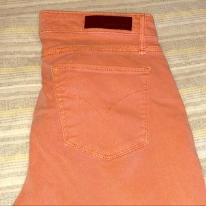 Calvin Klein Cropped skinny salmon color jeans